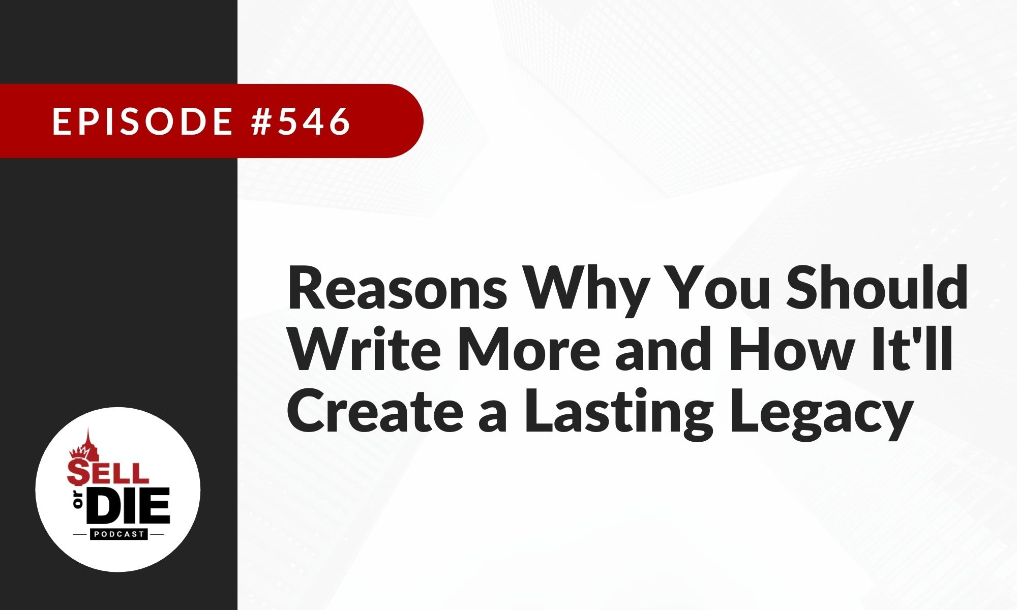 reasons to write